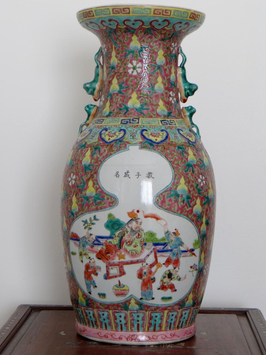 Chine, Début Du XXème Siècle, Important Vase En Porcelaine. -photo-3
