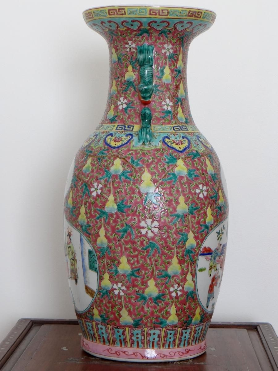 Chine, Début Du XXème Siècle, Important Vase En Porcelaine. -photo-4