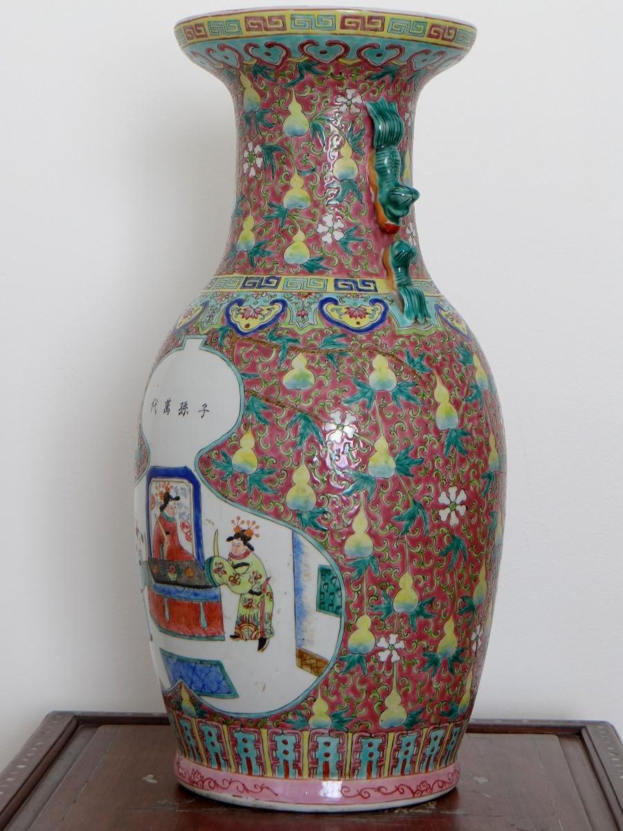Chine, Début Du XXème Siècle, Important Vase En Porcelaine. -photo-1
