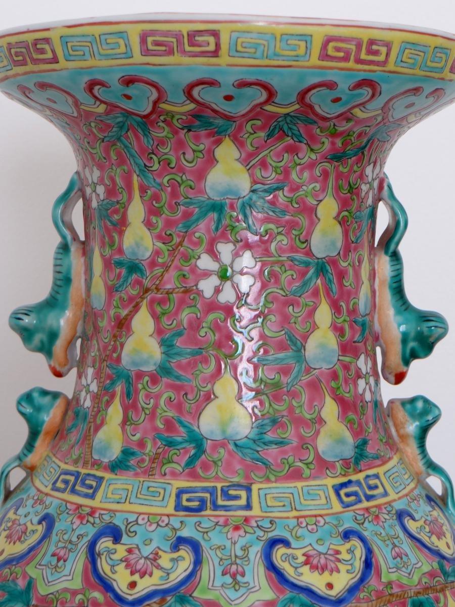 Chine, Début Du XXème Siècle, Important Vase En Porcelaine. -photo-5