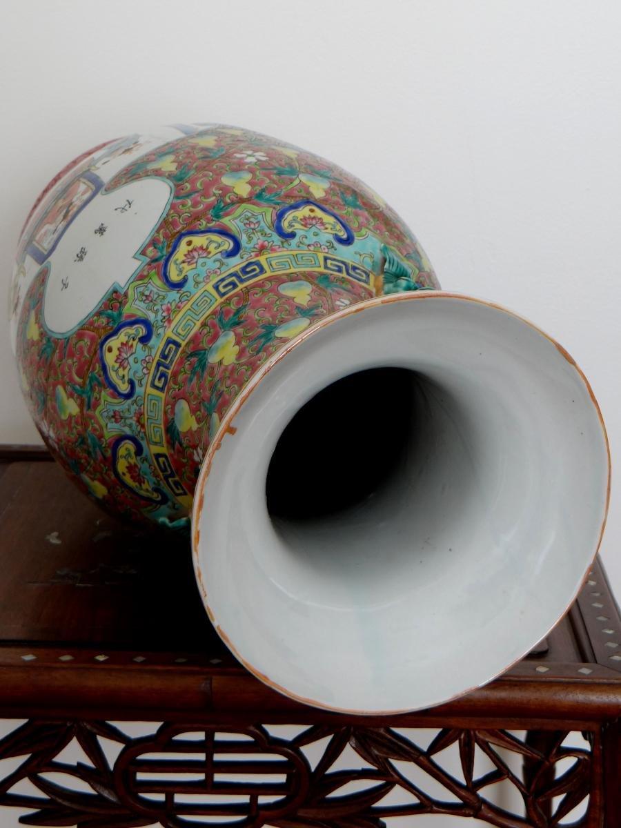 Chine, Début Du XXème Siècle, Important Vase En Porcelaine. -photo-6