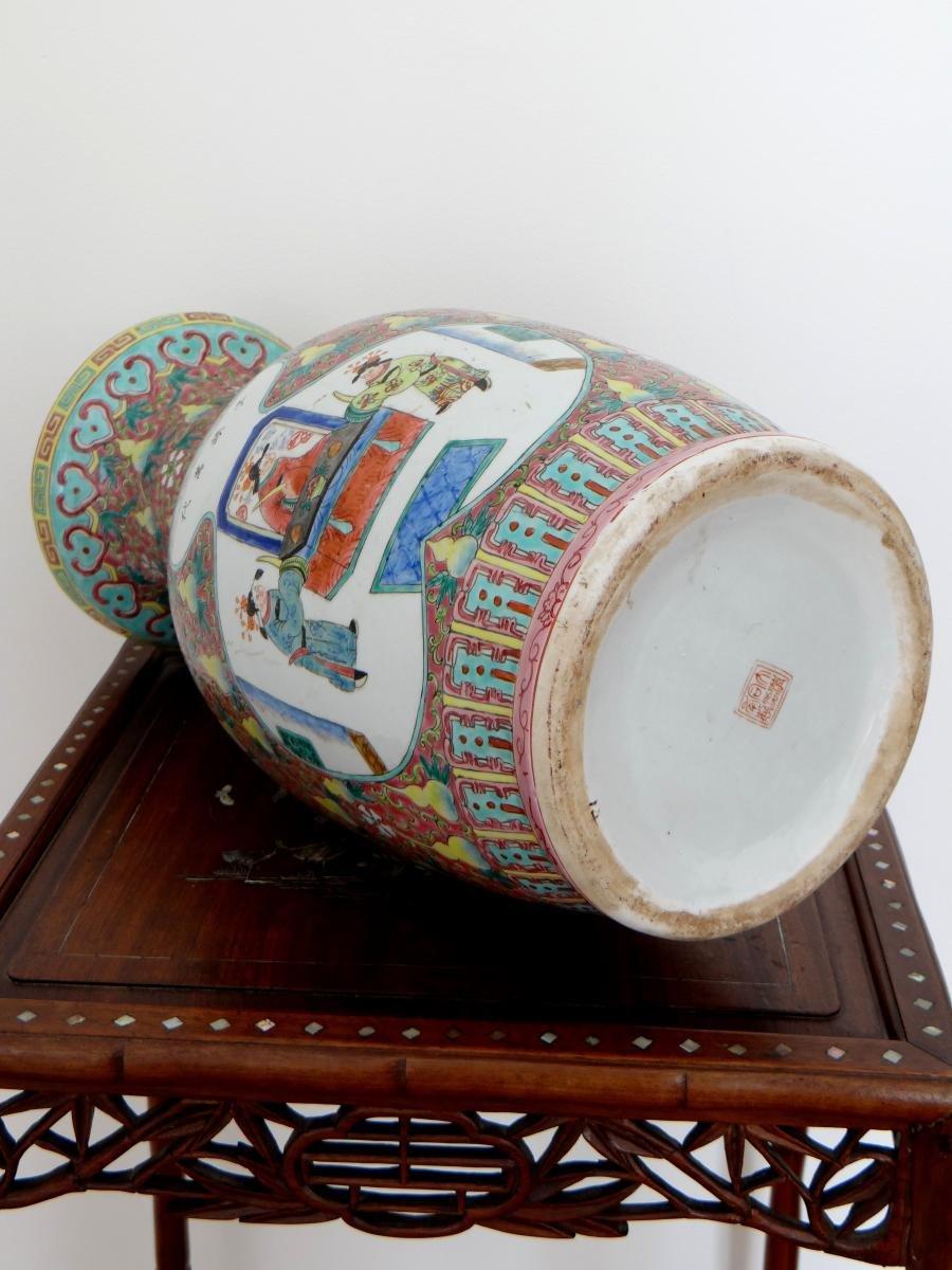 Chine, Début Du XXème Siècle, Important Vase En Porcelaine. -photo-7