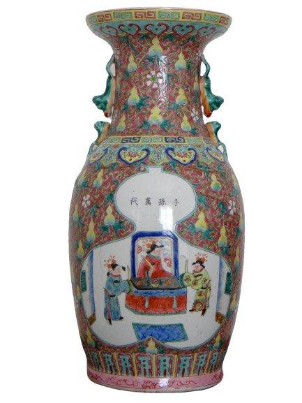 Chine, Début Du XXème Siècle, Important Vase En Porcelaine.