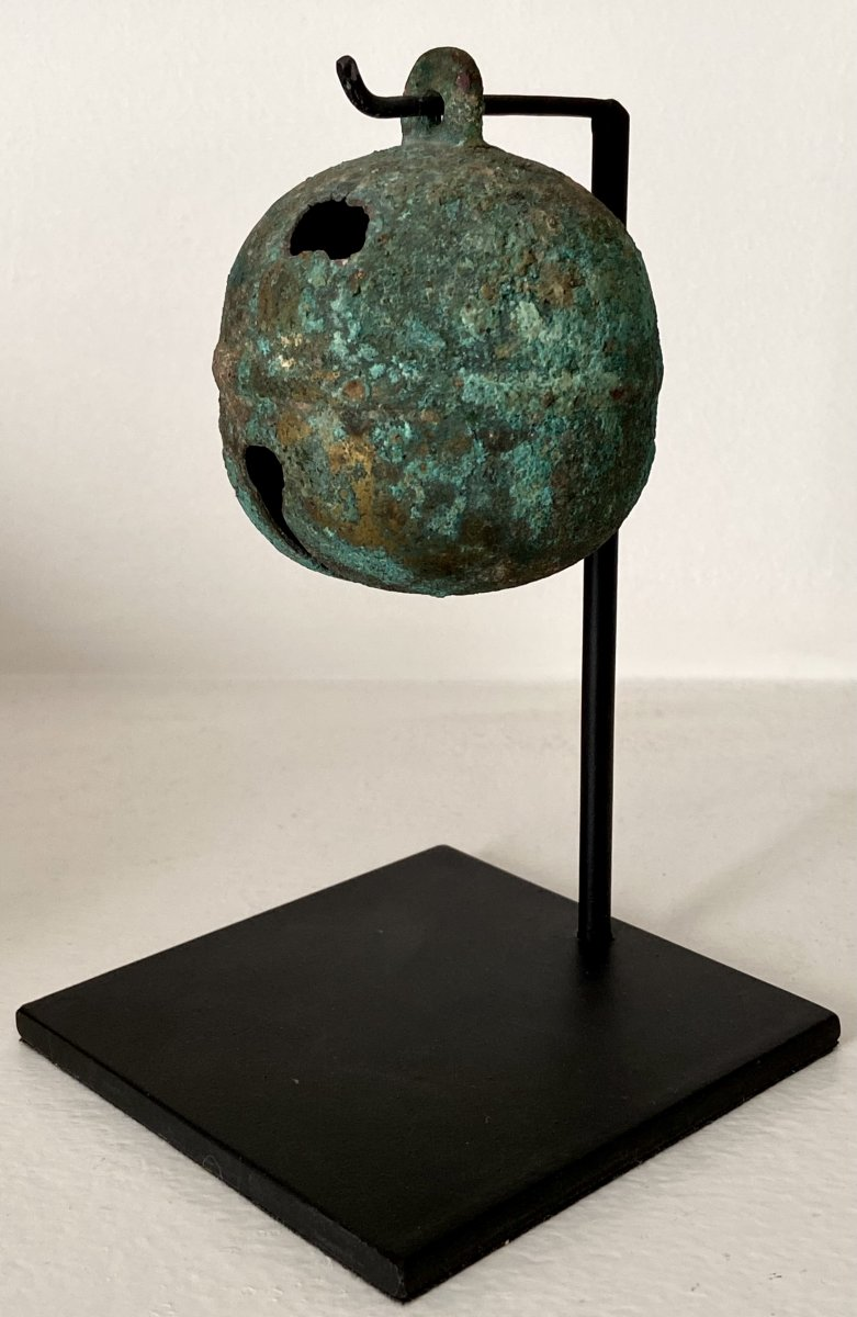 China, Han Dynasty Period (206 Bc - 220 Ad), Antique Hitch Bell.