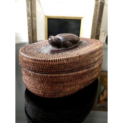Philippines Archipelago, Ifugao Province, Mid 20th Century, Box Vannerie.