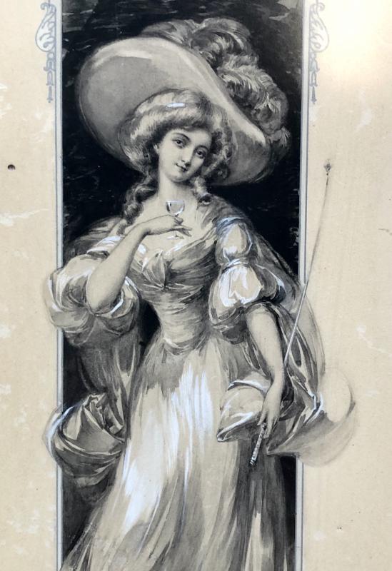 France époque Art Nouveau, Dessin Original Projet De Menu Paquebots Transatlantiques II-photo-4