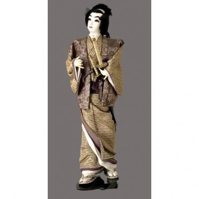 Japon, Années 1950, Grande Poupée Samouraï.