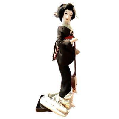 Japon, Années 1950, Grande Poupée Geisha au Shamisen.