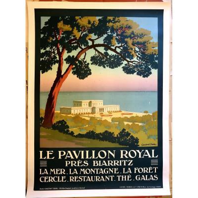 Affiche 1920 Le Pavillon Royal Près Biarritz Par Constant-duval (1877-1956).