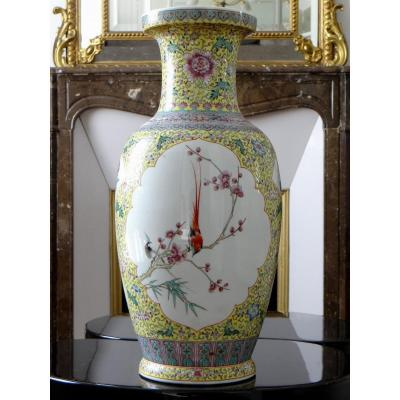 China, Early 20th Century, Important Porcelain Vase.