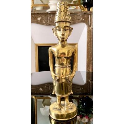 Asie Du Sud-est, Premier Tiers Du XXème Siècle, Statuette Bronze Personnage Masculin.