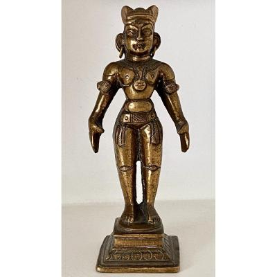 Inde, Années 1920/1930, Statuette Bronze Poupée Fertilité Marapachi.