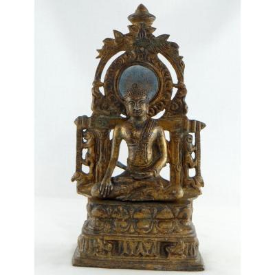 Birmanie, Début Du XXème Siècle, Autel Votif de Bouddha En Bronze.