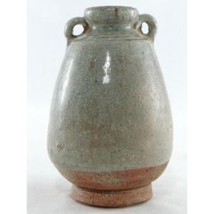 Thaïlande, Sawankhalok, XIVème-XVIème Siècle, Petite Jarre En Céramique Céladon.