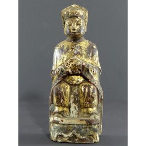 Chine, Fin Dynastie Ming, Début Dynastie Qing, Statue Taoïste Juge Des Enfers.