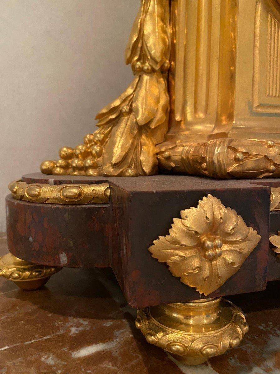 Pendule Marbre Rouge Louis XVI-photo-6