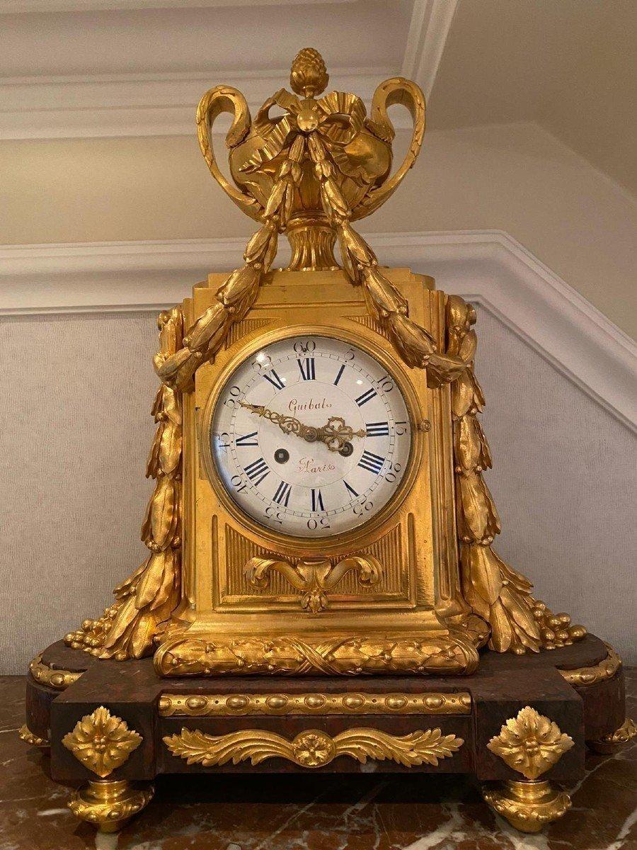 Pendule Marbre Rouge Louis XVI