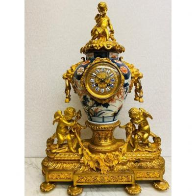 Napoleon III - Vase En Porcelaine émaillée