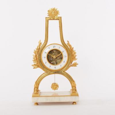 Pendule Squelette Louis XVI De La Fin Du XVIIIe Siècle.