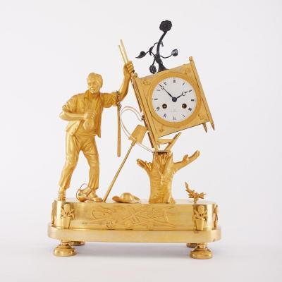 Antique Clock From The Eighteenth Century