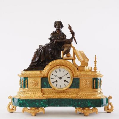 Antique Malachite Pendulum