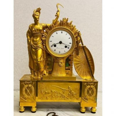 Empire Clock Perret Gentil 18th Century