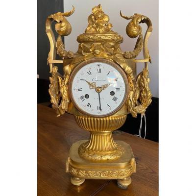 """Vase Clock """"crosnier In Paris"""""""