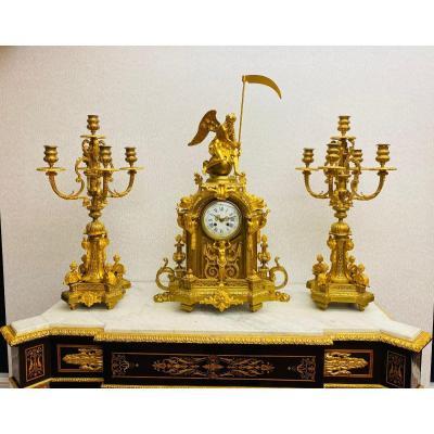 Napoleon III Clock Set