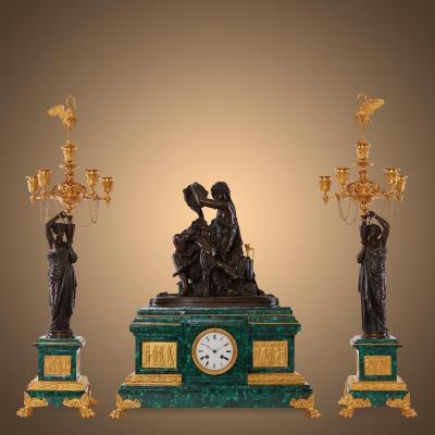 Empire Pendulum And Candlesticks