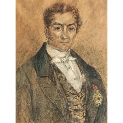 Portrait d'Homme à La Boucle d'Oreille Et à La Légion d'Honneur
