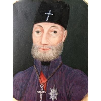 Portrait Miniature de L'Evêque De Montenegro