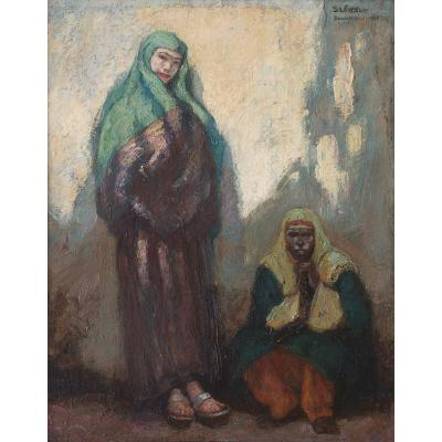 Andor SZEKELY(Hongrois) - Femmes à Damas Syrie - 1918