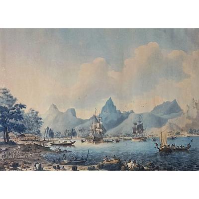 Captain Cook's Fleet In Moorea. John II Cleveley. Late 18th