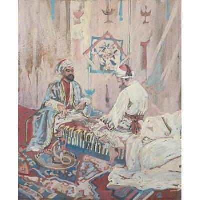 The Party Of Jacquet. Orientalist School Of The Nineteenth Century