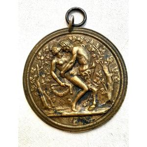 Curiosa. Lovemaking  Of A Nymph And A Bronze Satyr. Erotika