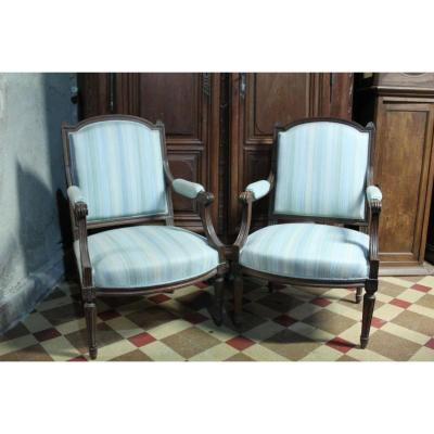 Two Louis XVI Armchairs