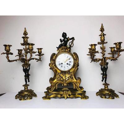 Horloge Bronze 19ème Siècle