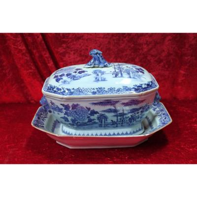 Terrine And Porcelain Porcelain From China 18th Century