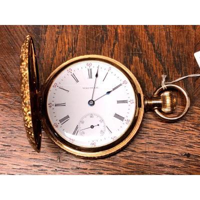 Waltham American  Gold  Hunter-case Watch