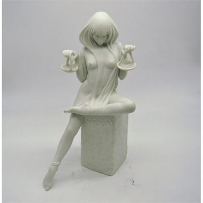 """Christel- Libra - Copenhague: femme en biscuit """"balance"""", signe du zodiaque, 1970's"""