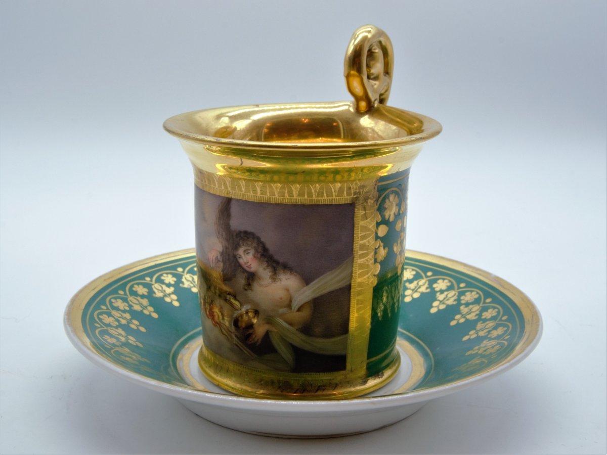 Paris Porcelain Cup Early 19th - Mythological Scene