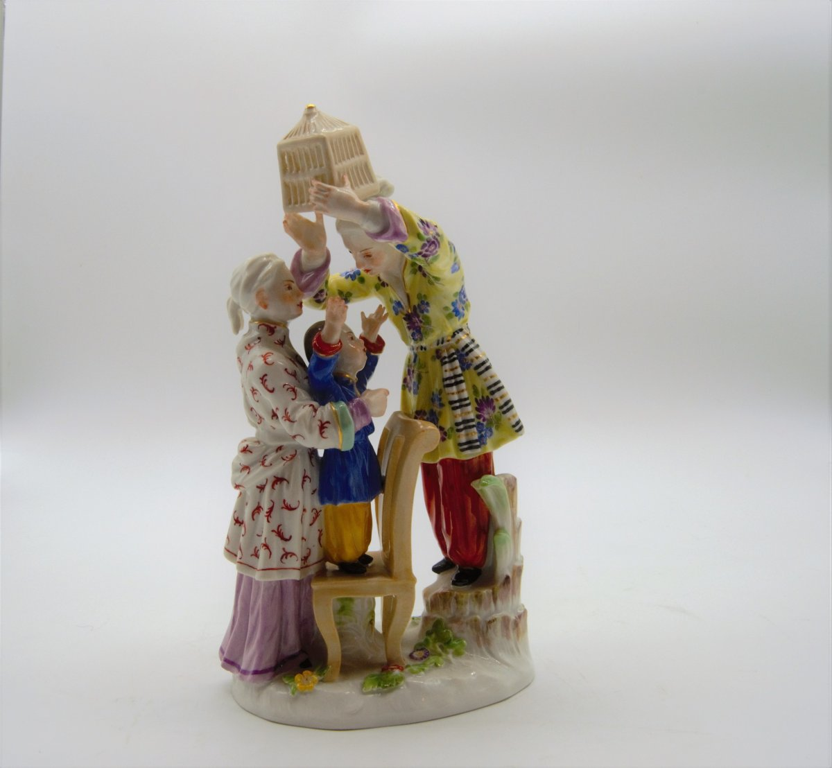 Meissen Porcelain Group - Chinese Family With Cage - Paul Scheurich