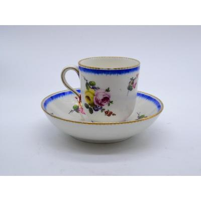 Porcelain Cup And Saucer, Sèvres XVIII