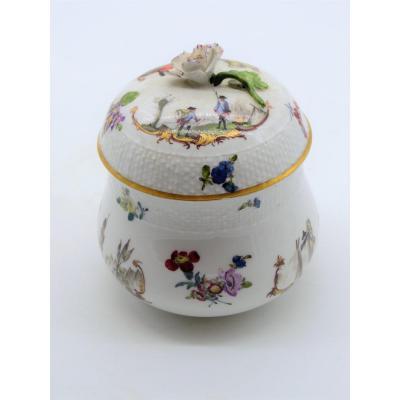 Pot à Jus En Porcelaine Décor Militaire - Meissen XVIIIème