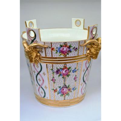 """Milk Bucket Model """"petit Trianon Marie Antoinette"""" Dresden XIXth"""