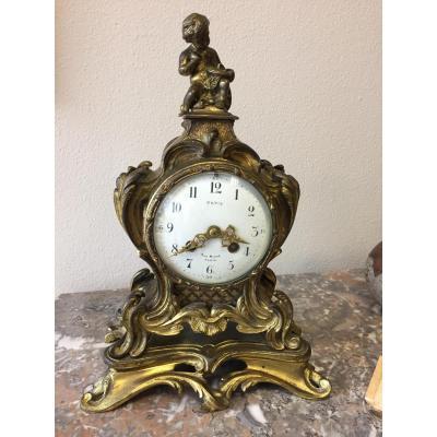 Pendule Style Louis XV XIX ème Siècle