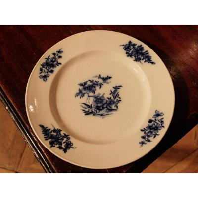 Suite 8 Plates In Earthenware Tournai, Late Eighteenth Time