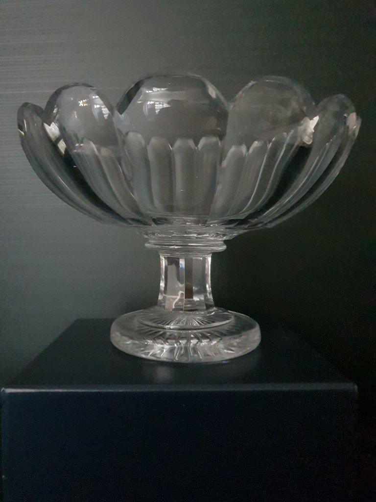 Coupe En Cristal Taillé d'époque Empire-photo-3