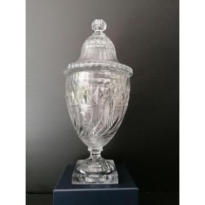 Pot à Punch En Cristal Taillé, époque 1820