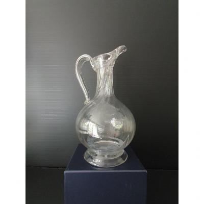 Cruche Normande en verre époque XVIIIème